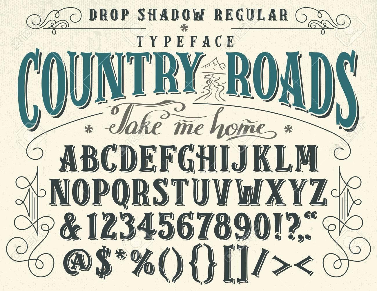 Handcrafted Retro Drop Shadow Regular Typeface Vintage Font