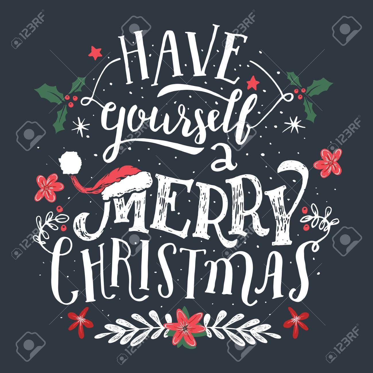C Stock Quote Have Yourself A Merry Christmashand Lettering Holiday Quote