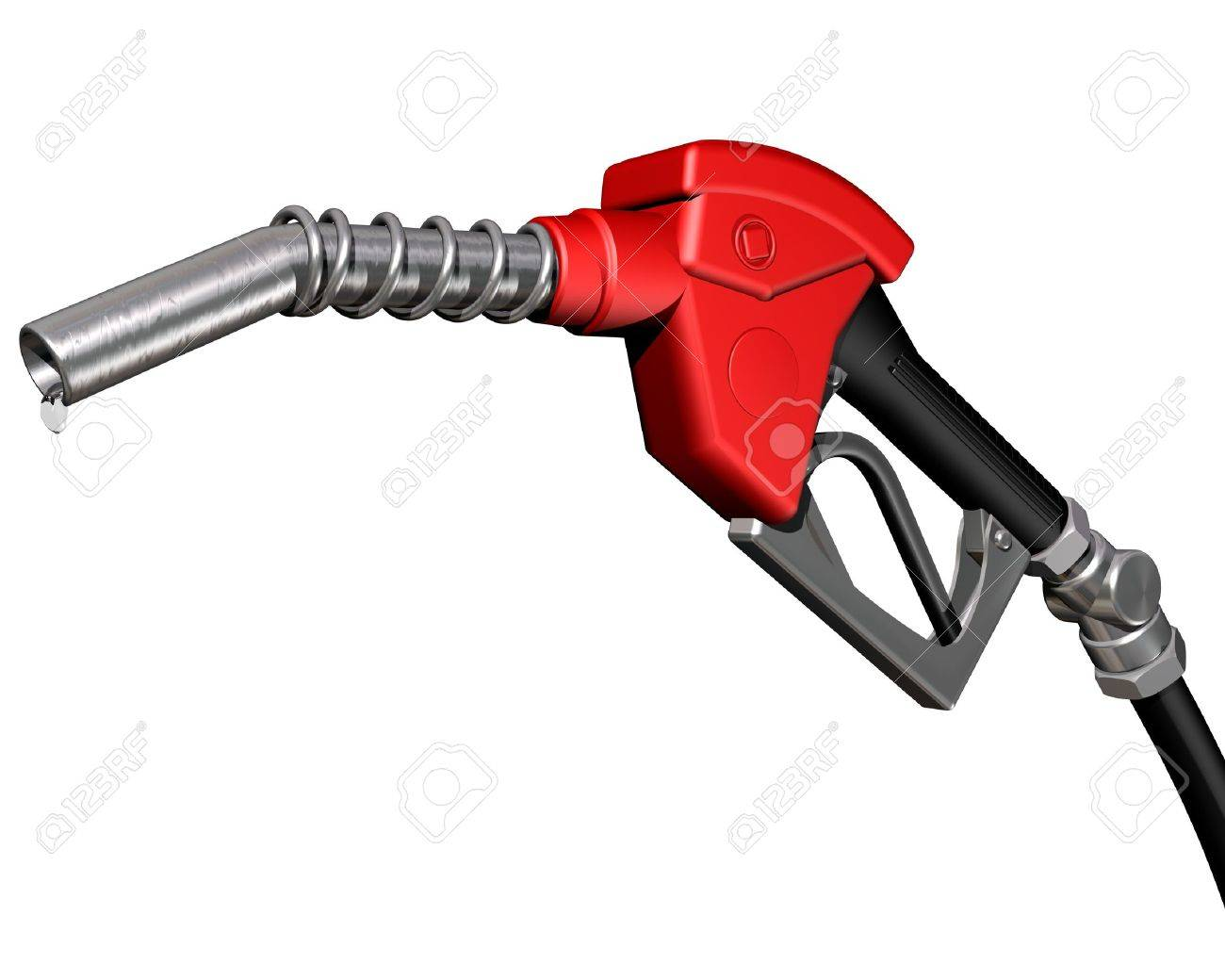 Isolated illustration of a dripping gas pump nozzle Stock Photo - 3181546
