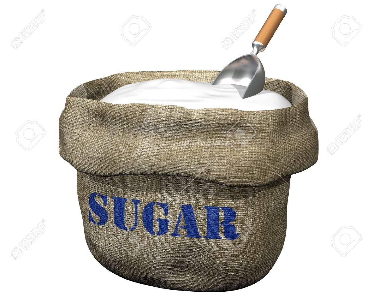 sugar  Isolated illustration  Sugar