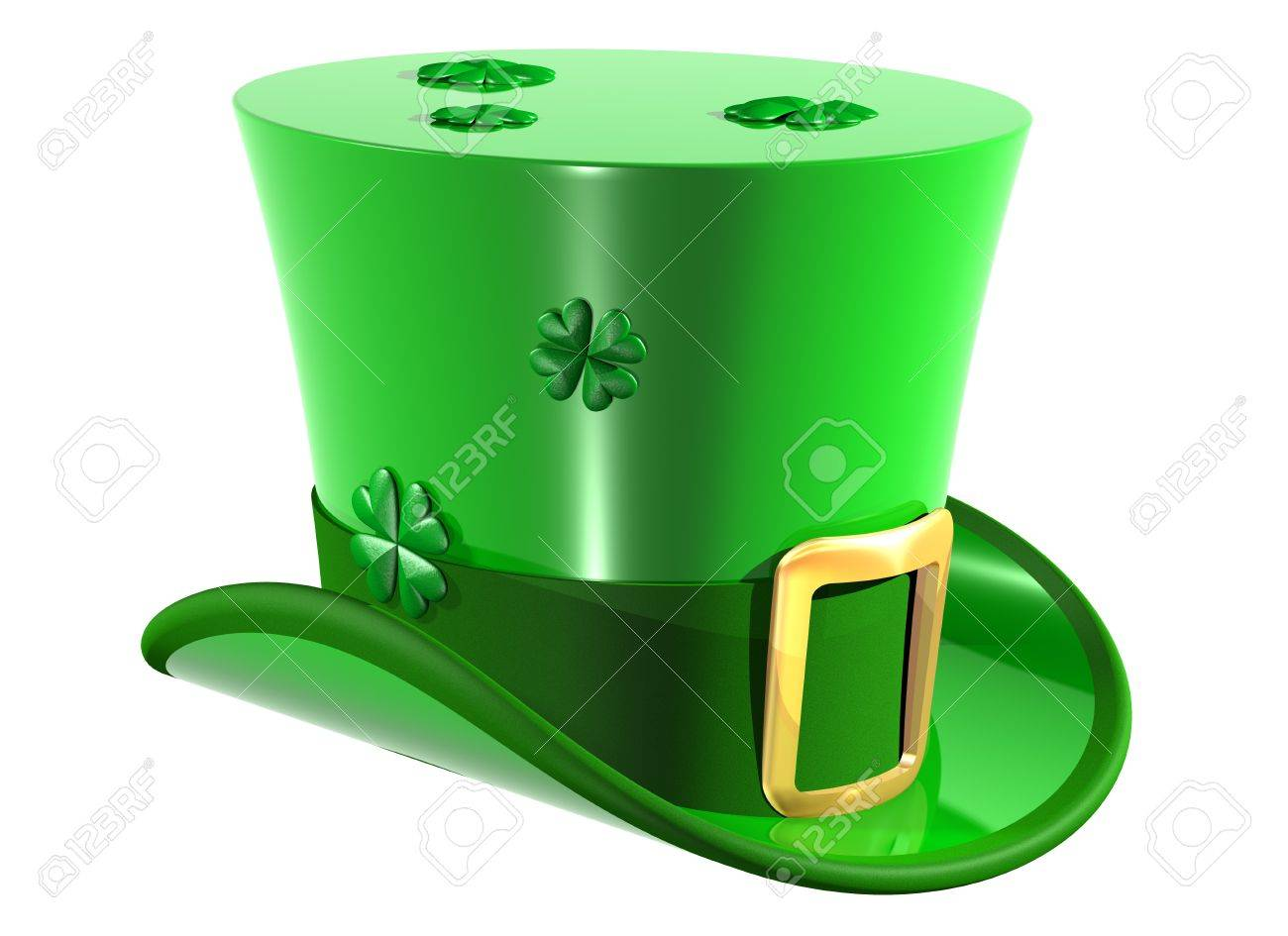 Isolated illustration of an Irish leprechaun top hat Stock Photo - 4462964