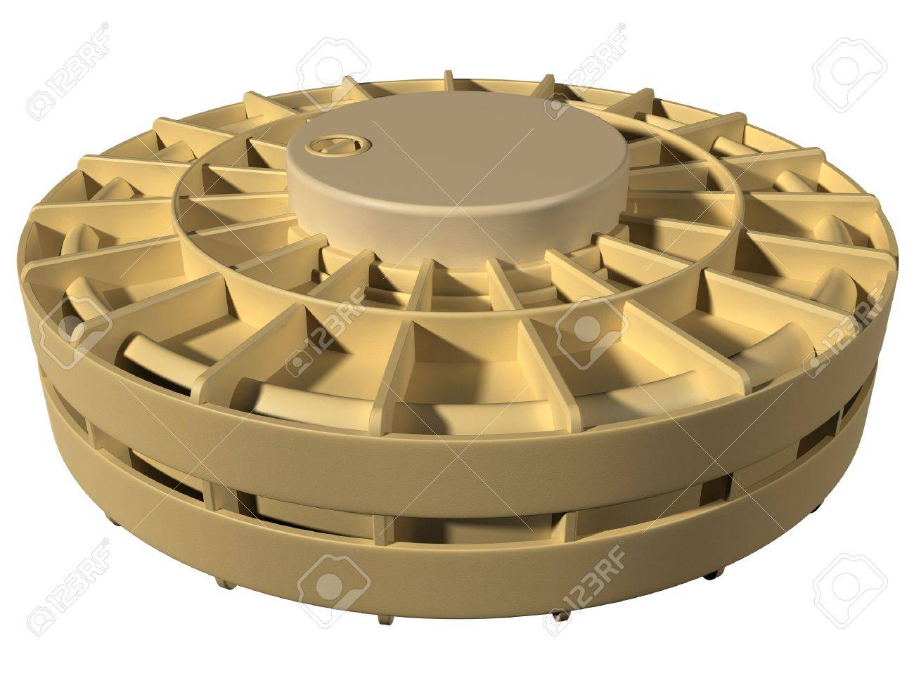 Isolated illustration of a desert landmine Stock Illustration - 7782623