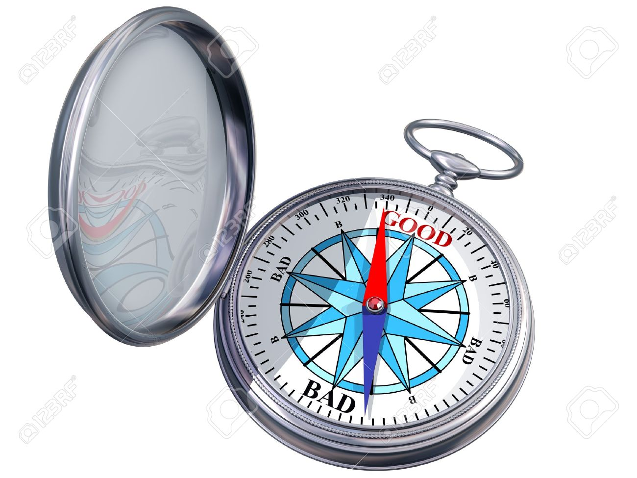 Illustration of a moral compass helping you to make the right decision Stock Photo - 10521169