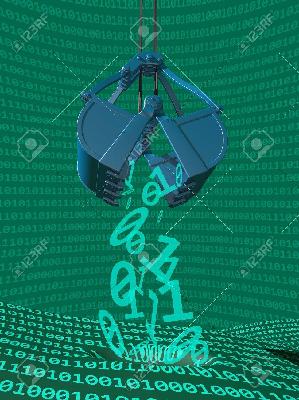 Illustration depicting data mining of computer information Stock Photo - 18496817