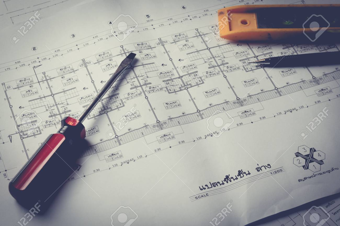 Engineering diagram blueprint paper drafting project sketch engineering diagram blueprint paper drafting project sketch architecturalselective focusvintage filter stock malvernweather Choice Image