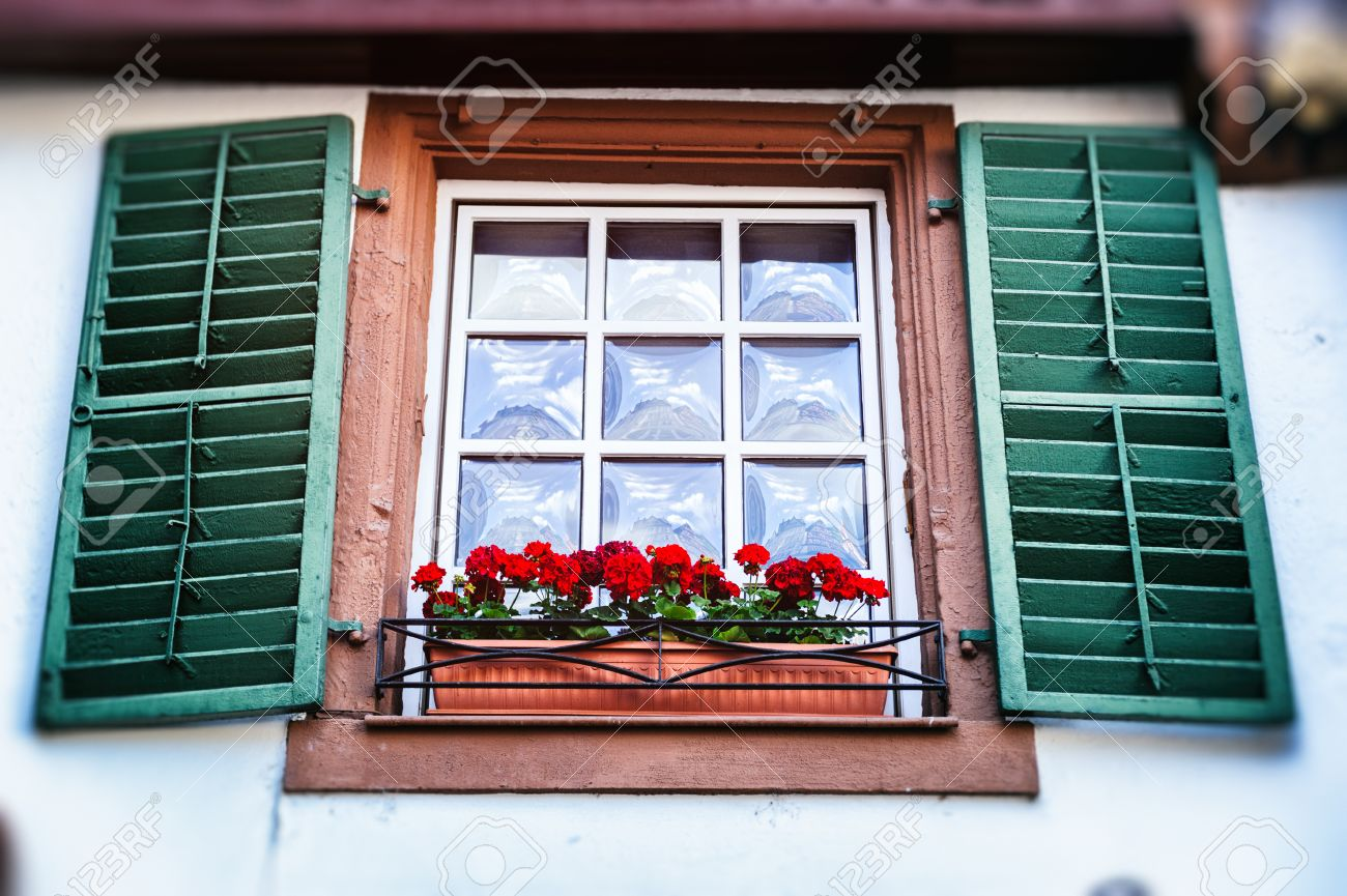 house window shutters red brick old window with shutters traditional german house stock photo 29736187 window with shutters house