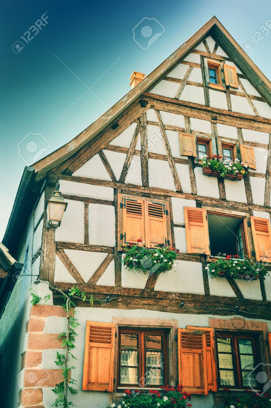 Astonishing Traditional Timber Frame House At Summer Time Alsace France Beutiful Home Inspiration Papxelindsey Bellcom