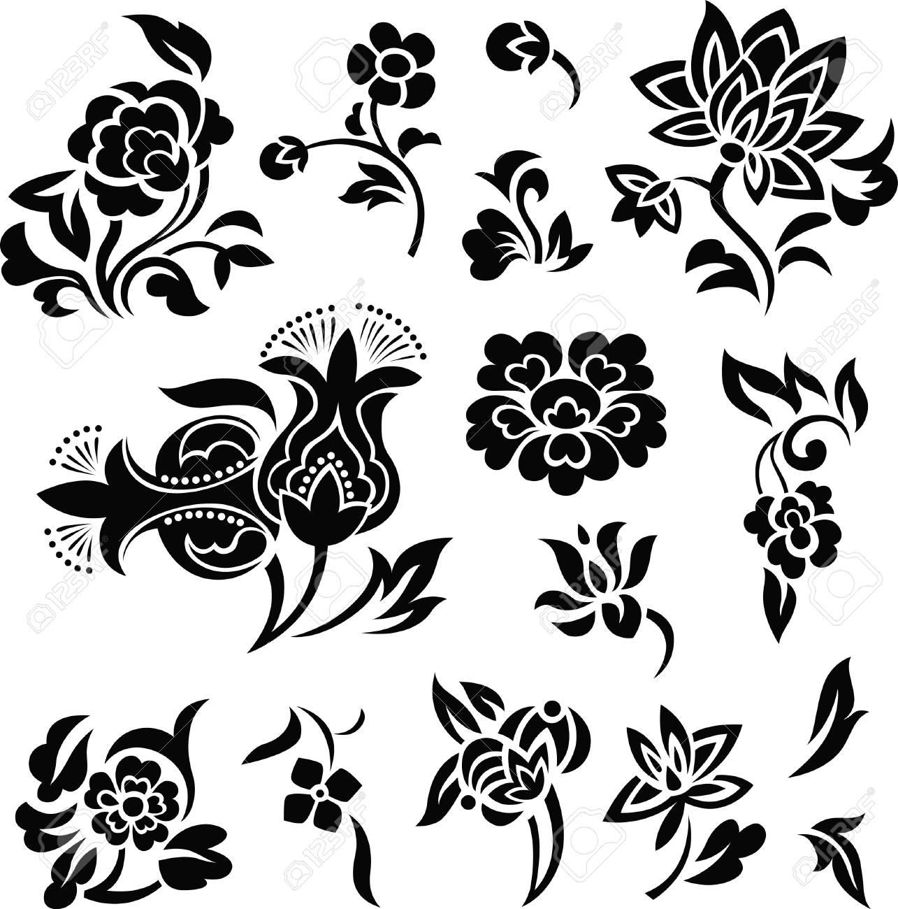 flower set illustration Stock Vector - 7254910