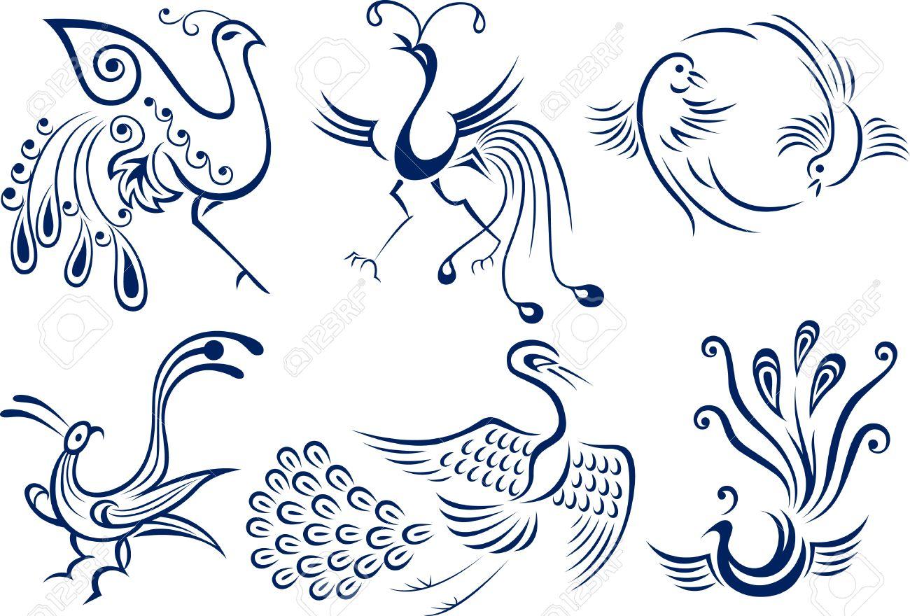 bird tribal symbol design Stock Vector - 7796632