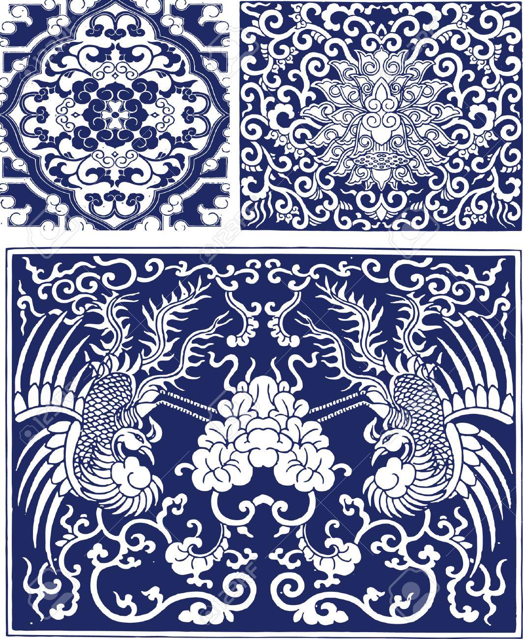 Oriental Phoenix Background Design Stock Vector   7821519
