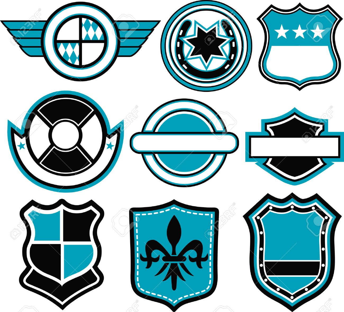 emblem badge template Stock Vector - 7936487
