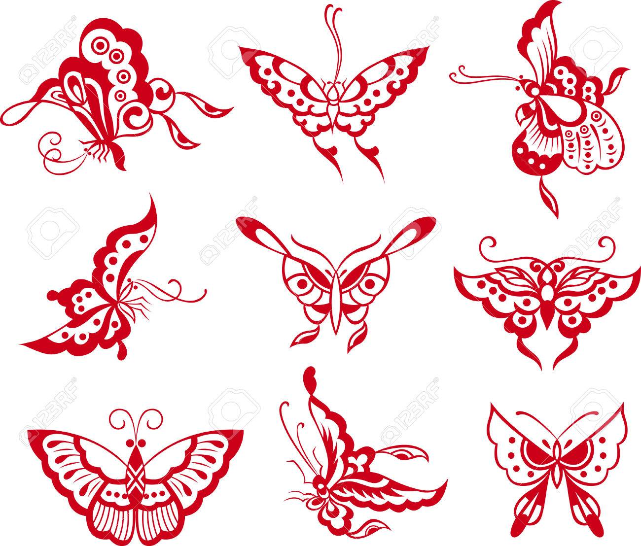 butterfly illustration Stock Vector - 8196874