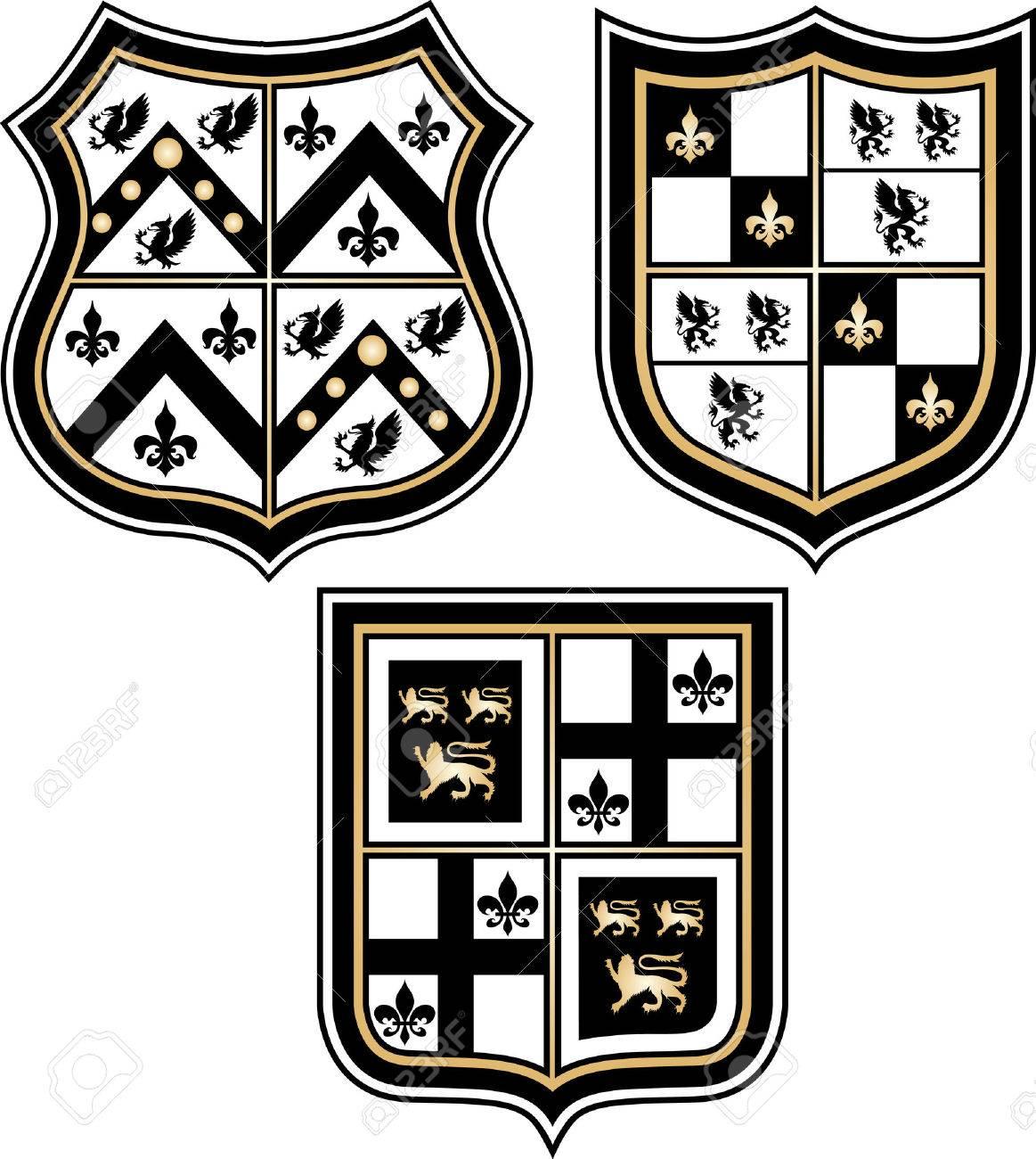 Heraldic emblem badge shield Stock Vector - 8544694