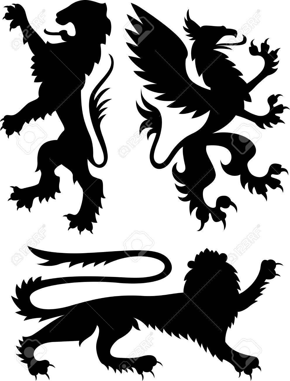 heraldic griffin design royalty free cliparts vectors and stock