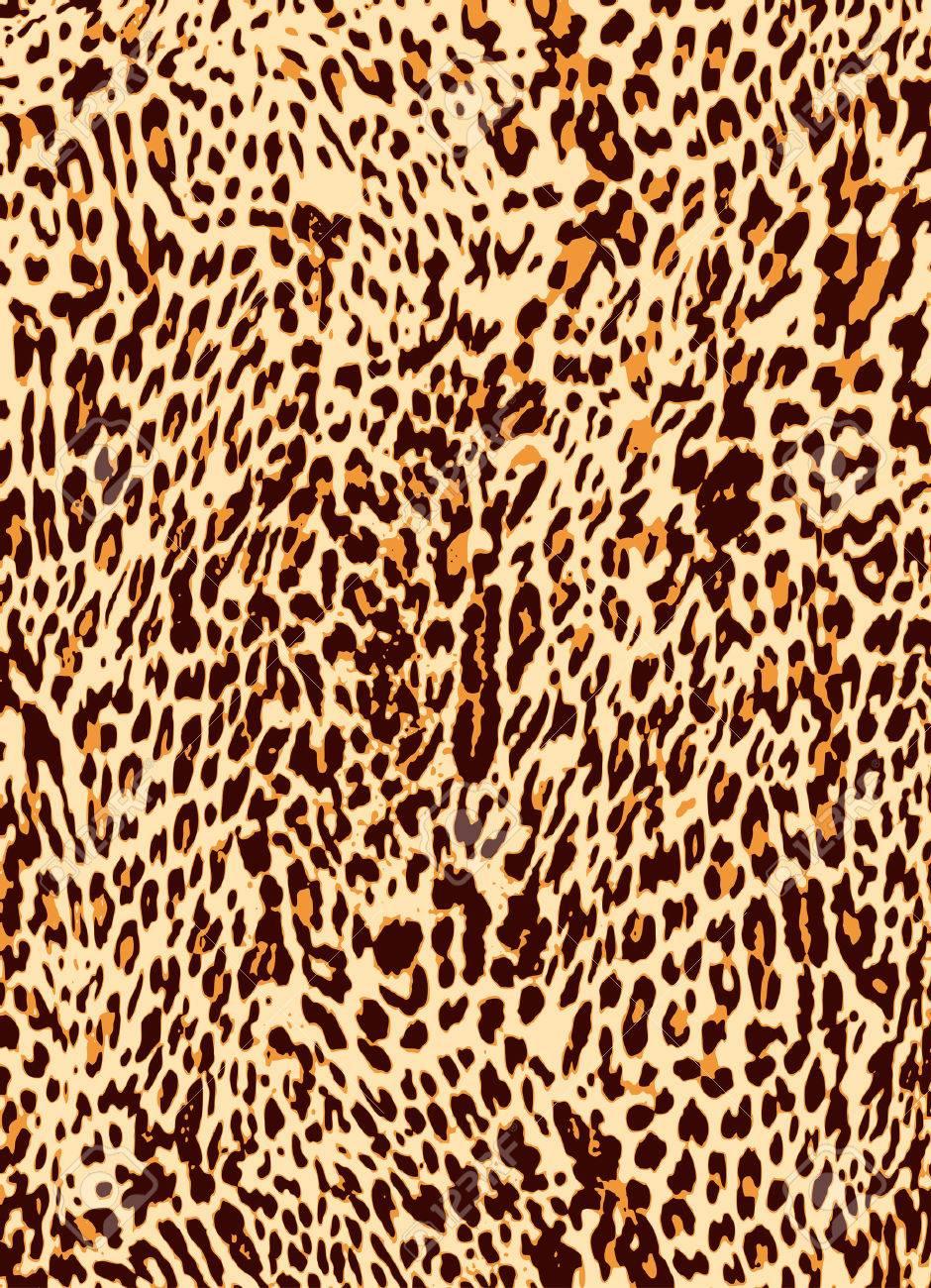 animal leopard skin texture print background Stock Vector - 9055486