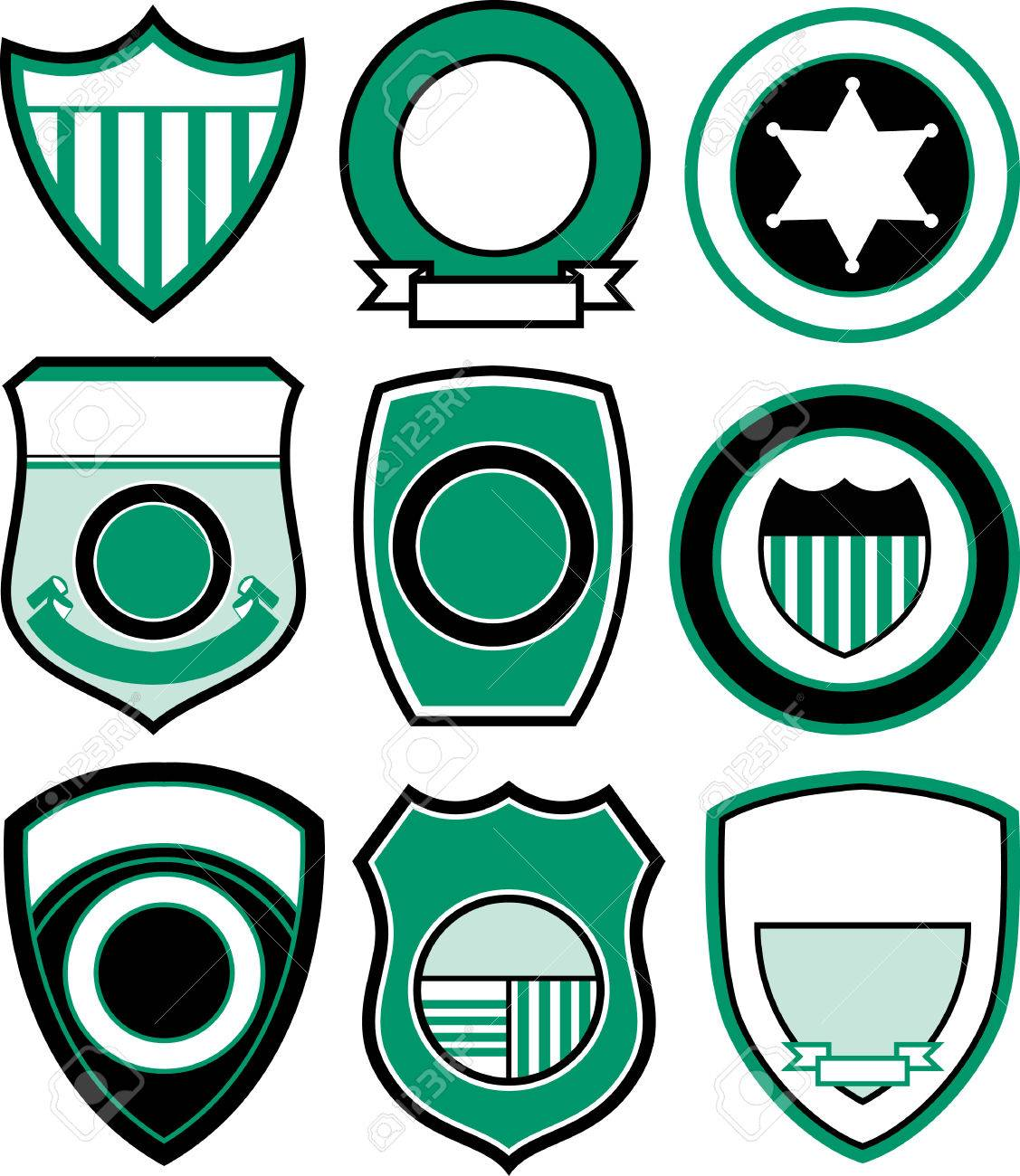 emblem badge shield design royalty free cliparts vectors and