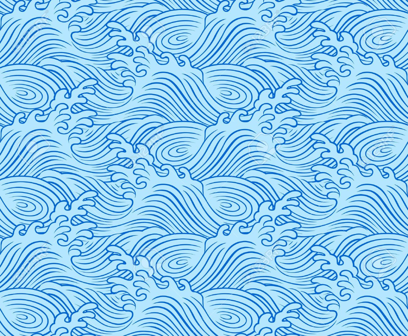 seamless wave pattern design Stock Vector - 9679735