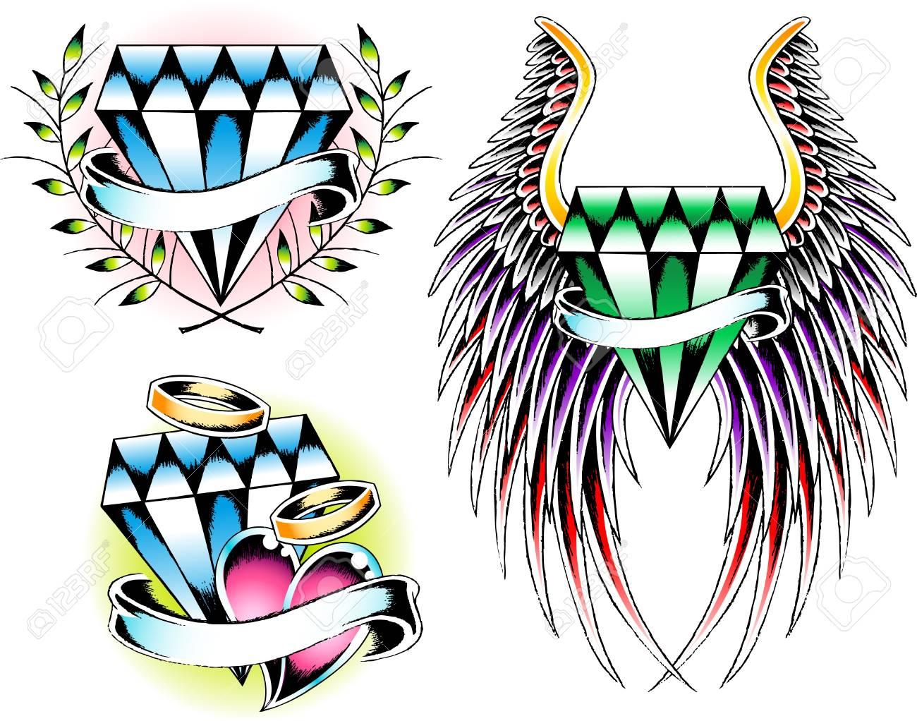diamond set emblem Stock Vector - 9920979