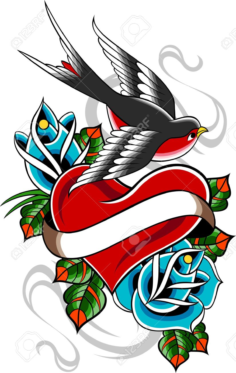 classic vintage tattoo Stock Vector - 10488184