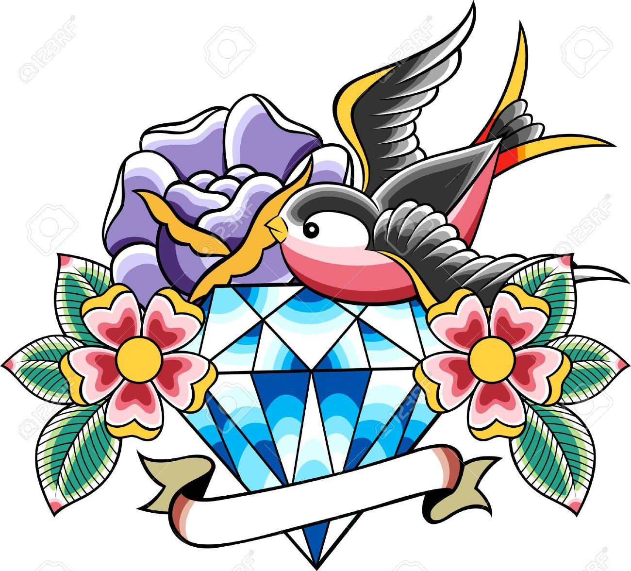 tatouage vintage classique Banque d\u0027images , 10488182
