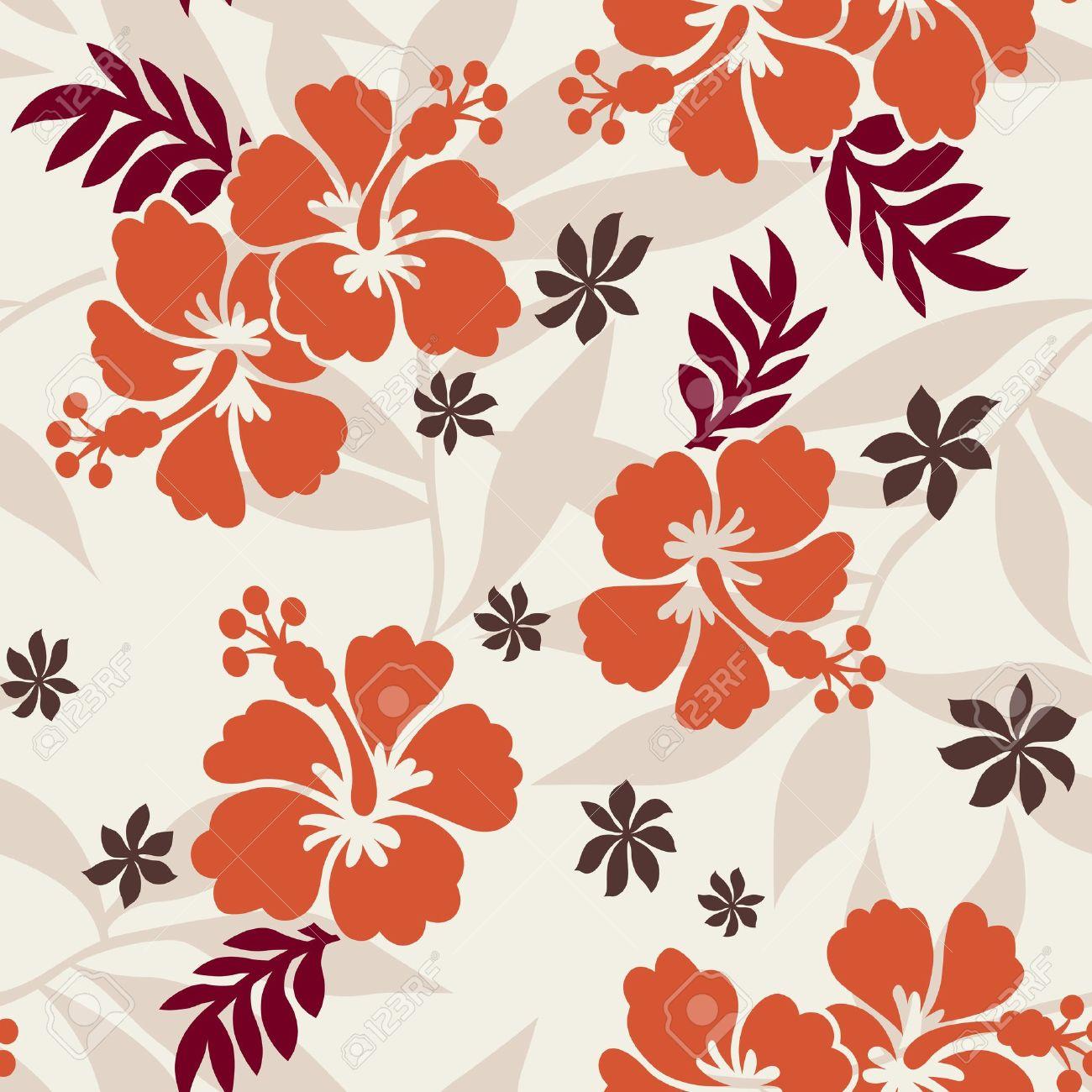 seamless hibiscus flower pattern Stock Vector - 10572599