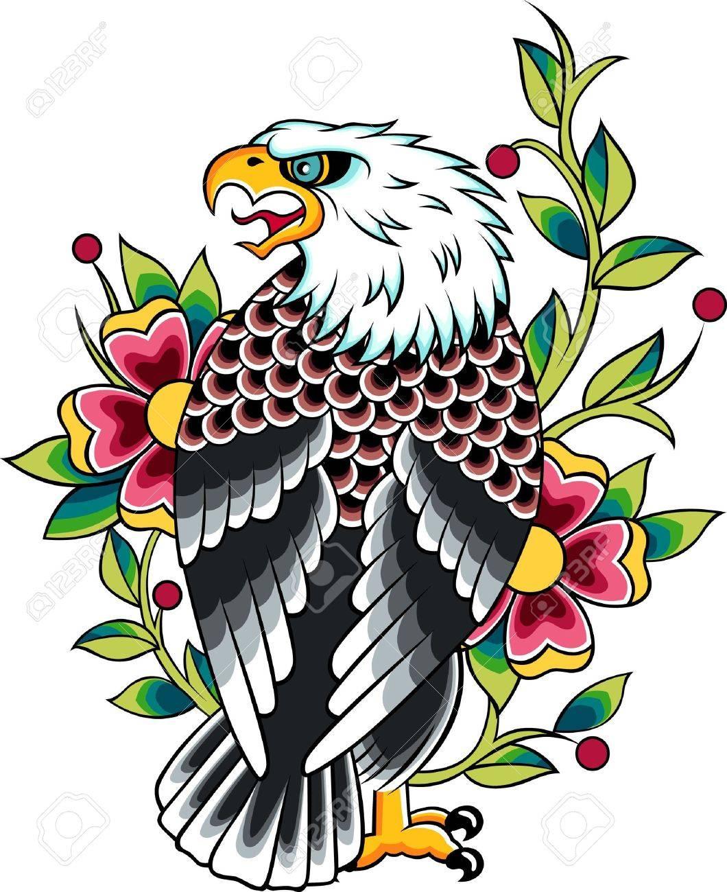 American eagle tattoos high quality photos and flash - Eagle Tattoo Stock Vector 10657349