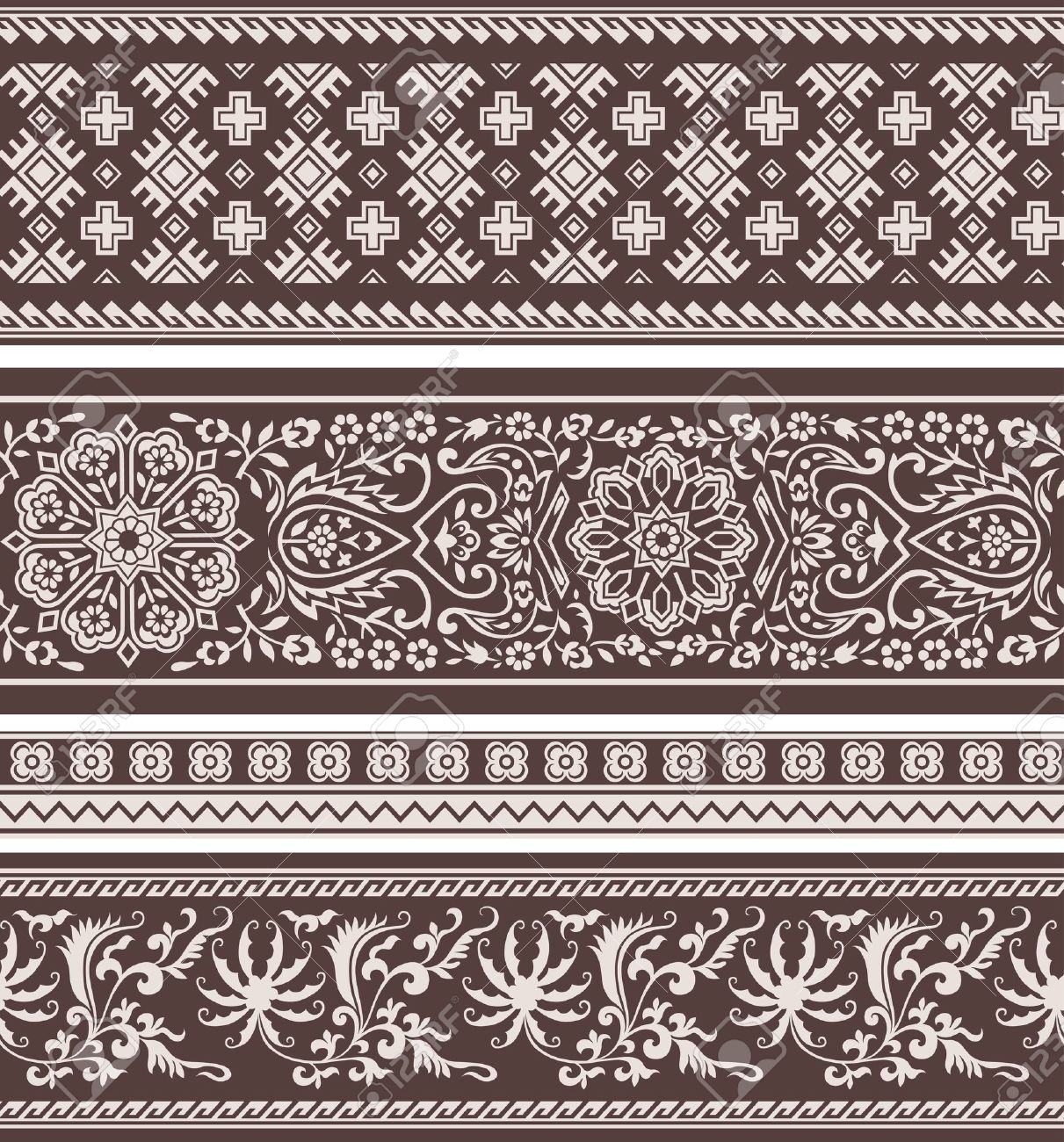 abstract floral classic pattern Stock Vector - 10932620