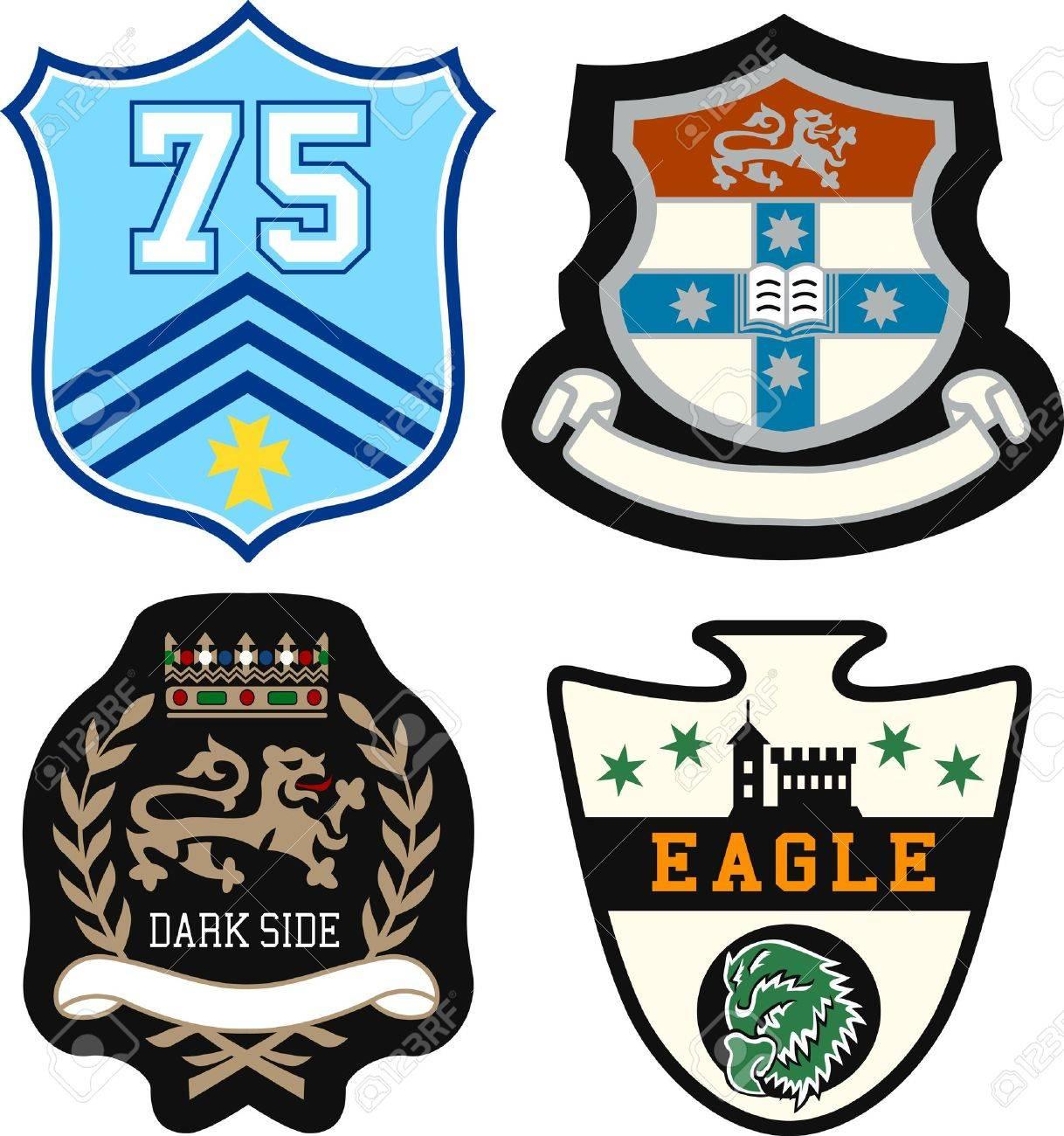 heraldic royal emblem badge Stock Vector - 11822095
