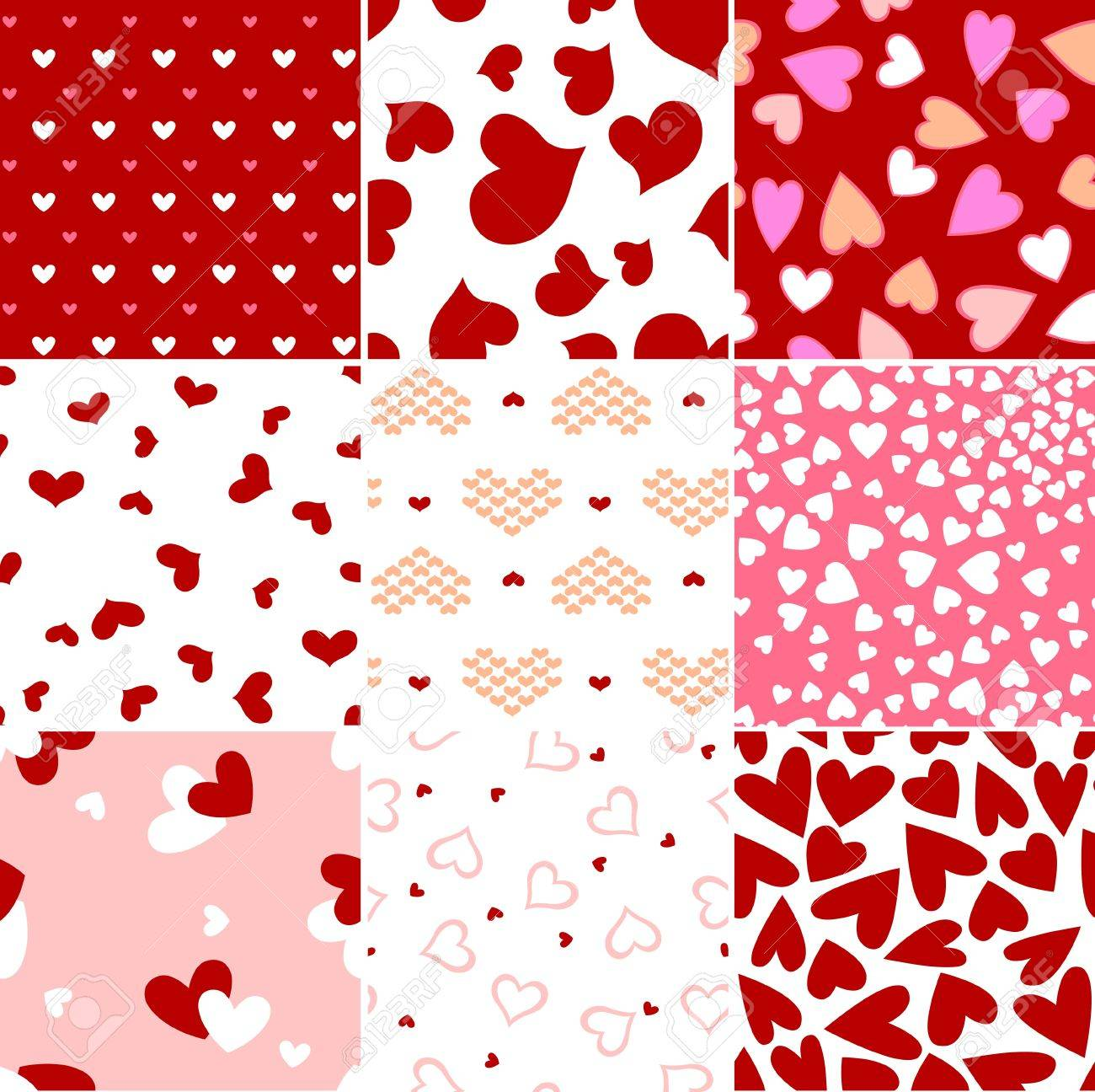 repeated seamless heart print Stock Vector - 12346396