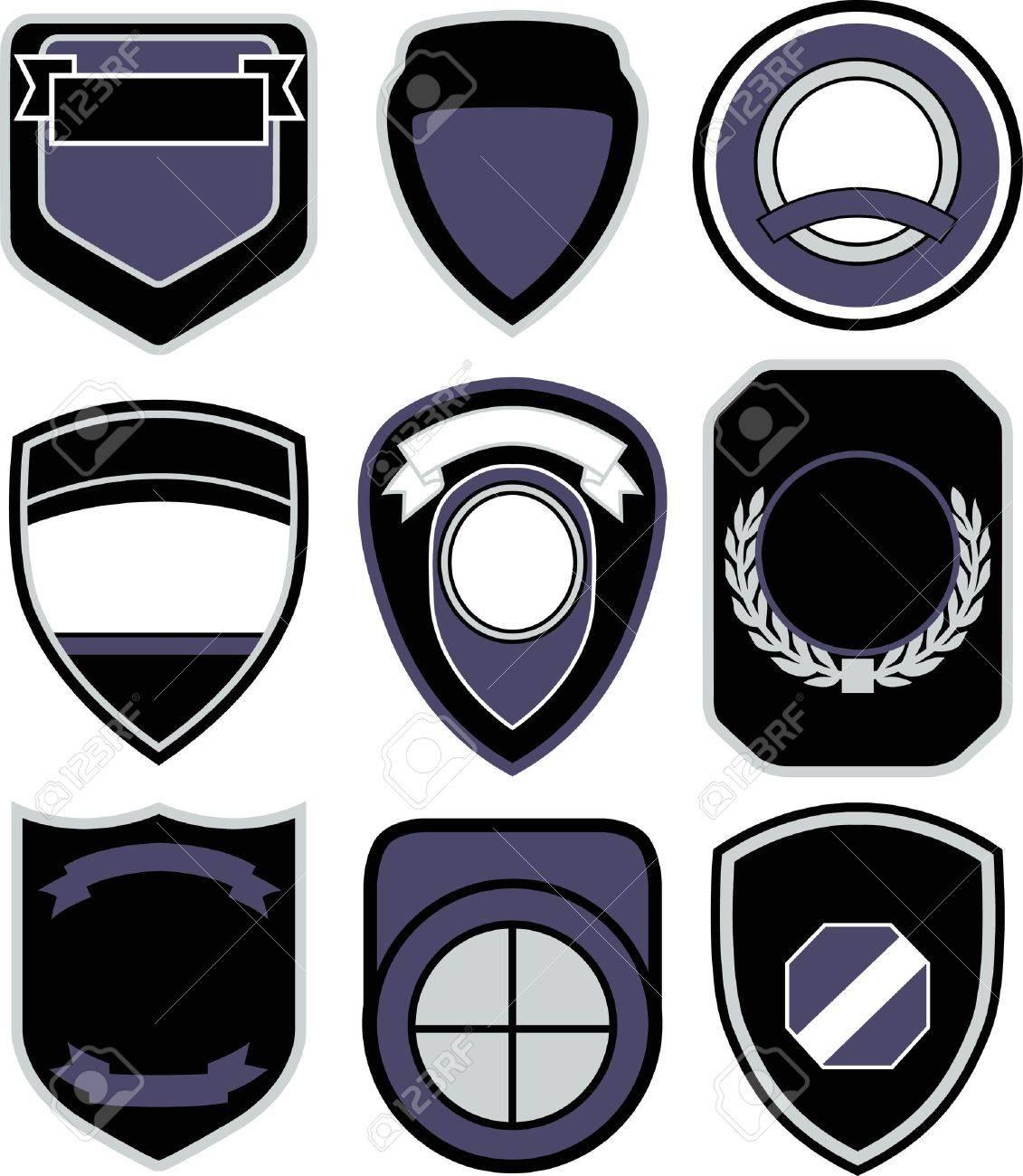 emblem badge shield design Stock Vector - 12346398