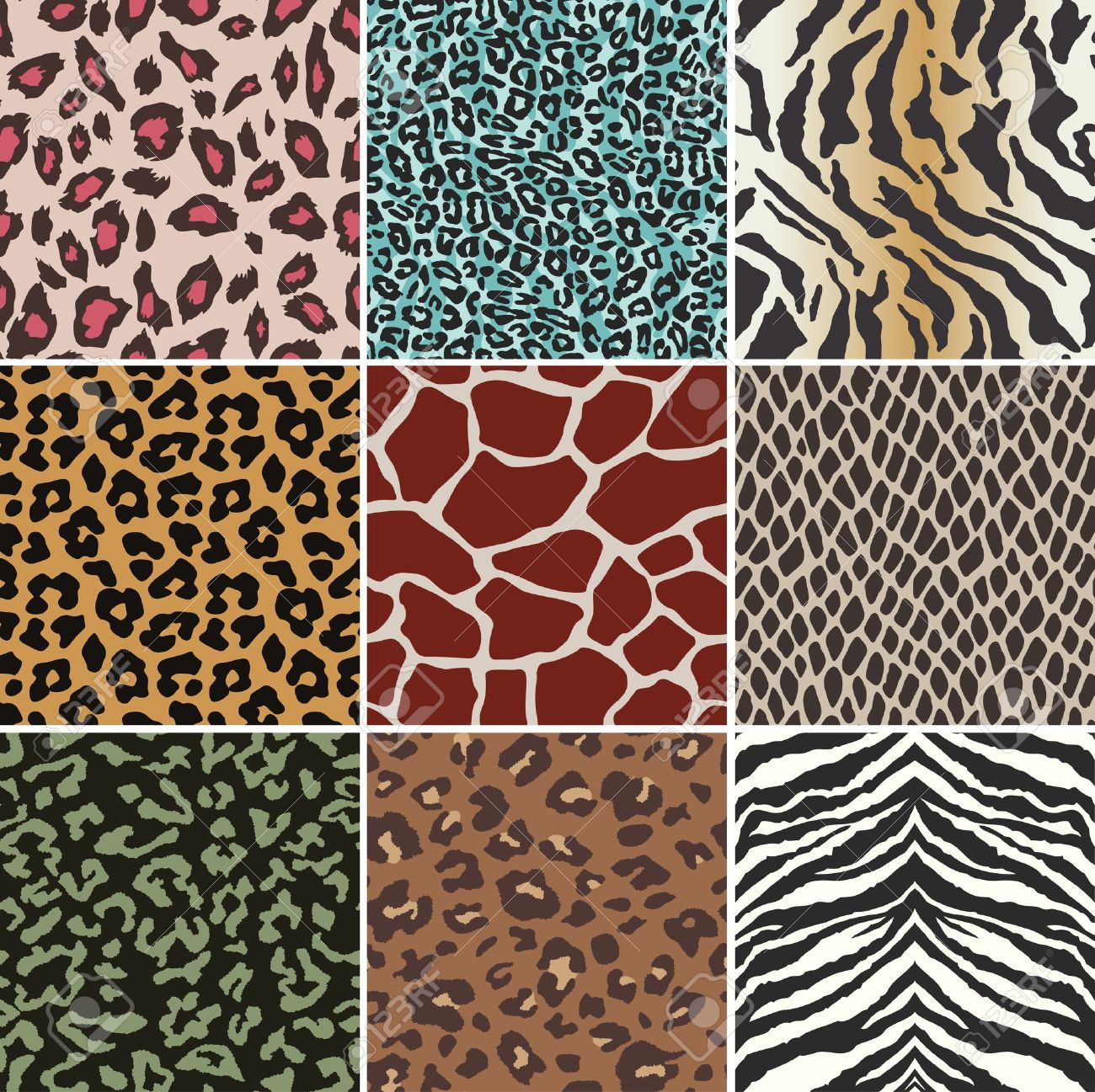 seamless animal skin swatch Stock Vector - 12855455