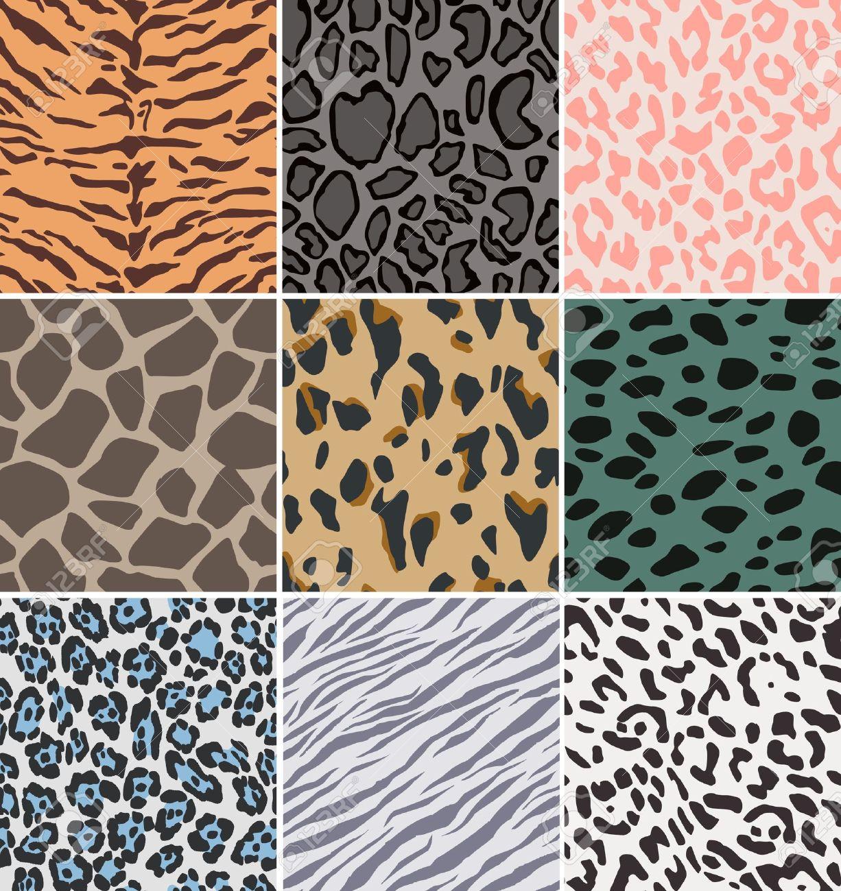 seamless fabric animal skin pattern Stock Vector - 14099482