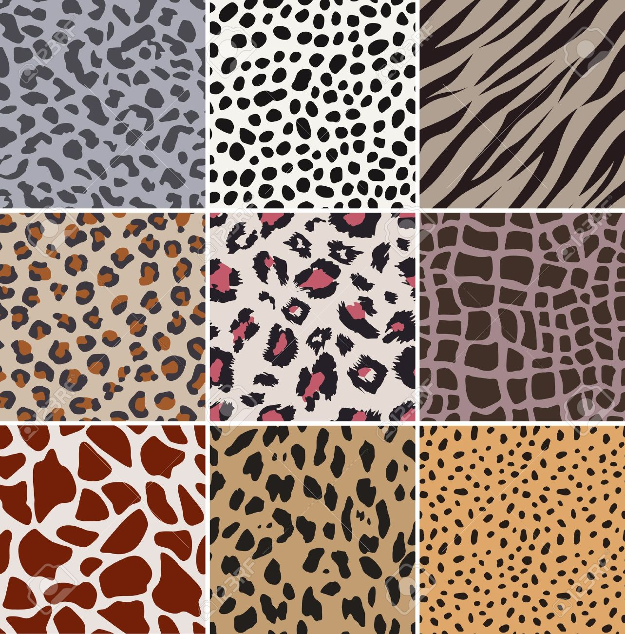 seamless fabric animal skin pattern Stock Vector - 14099472
