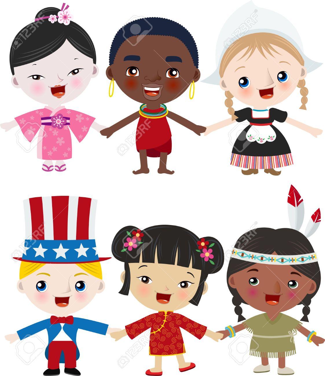 Multicutural Kids Stock Vector - 14099479