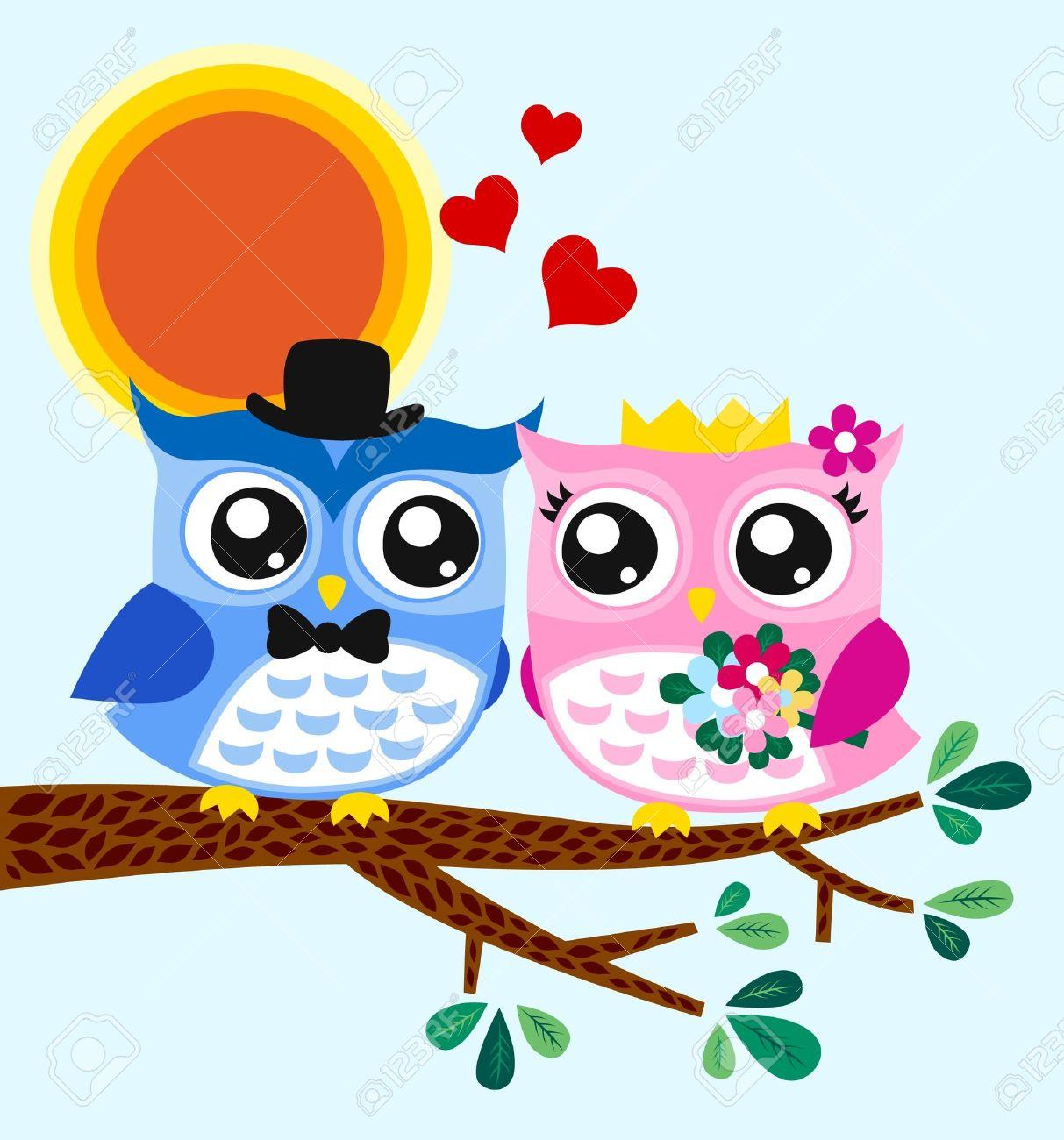 owl bride and groom Stock Vector - 14557852