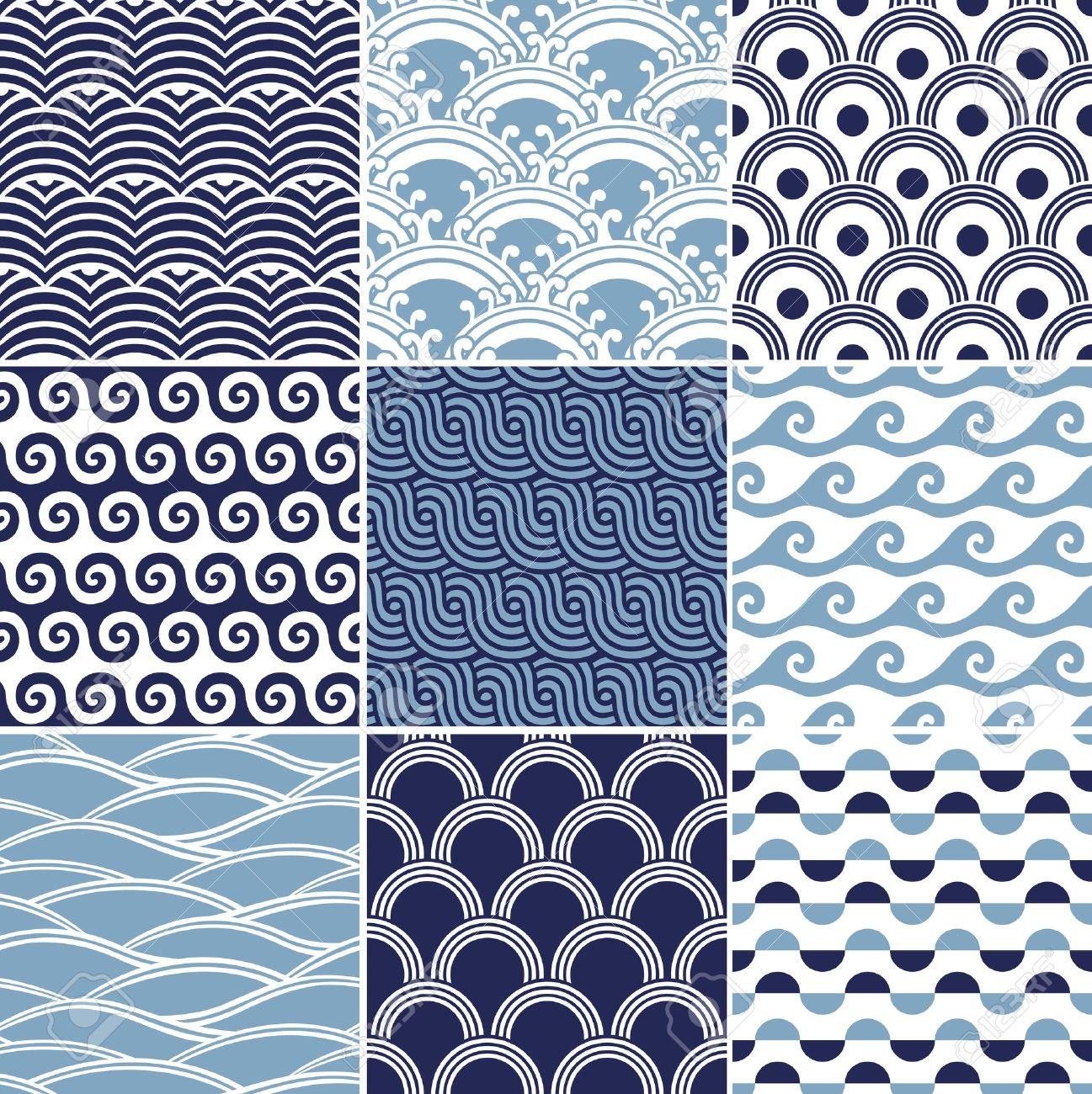 seamless ocean wave pattern Stock Vector - 16962752