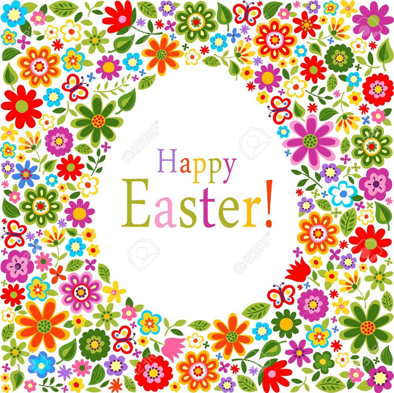 Flower Pattern Easter Card Cover Royalty Free Cliparts Vectors – Easter Card