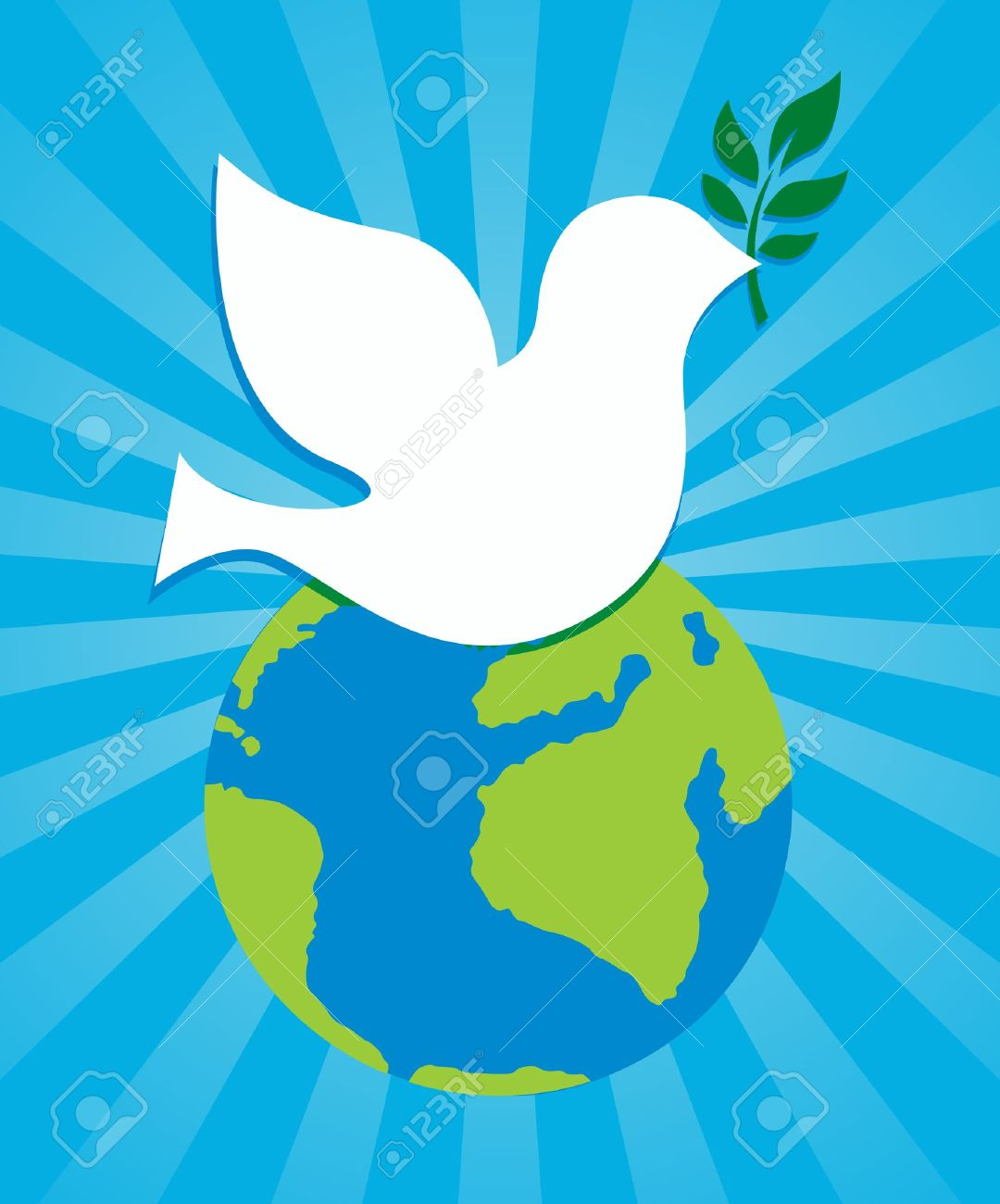 dove peace symbol holding an olive branch stock vector 17800290