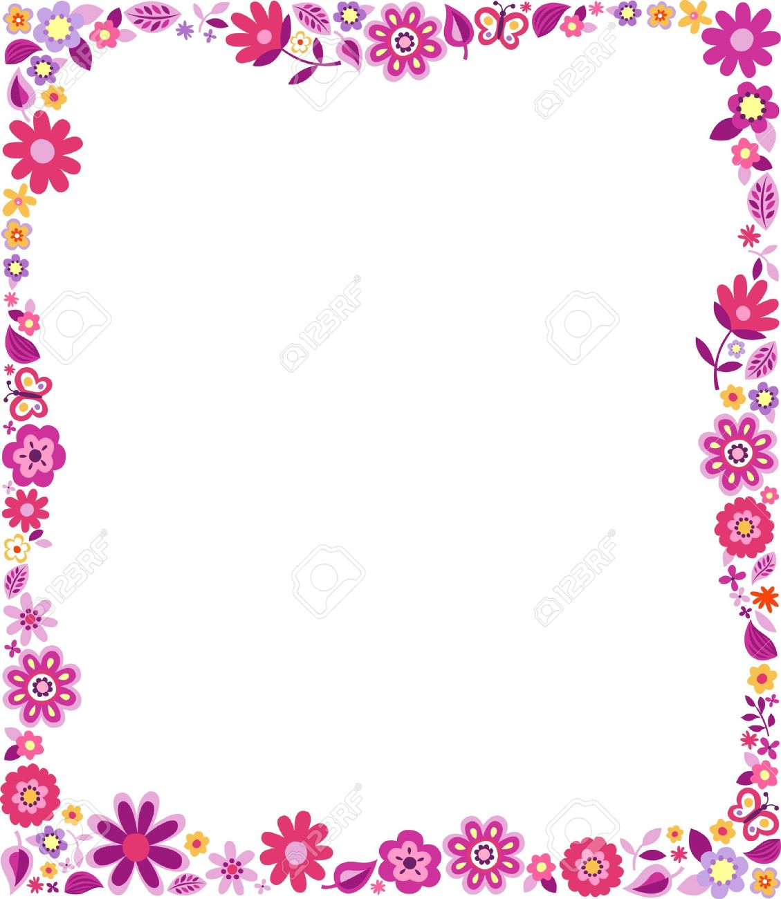 Colorful Page Borders And Frames