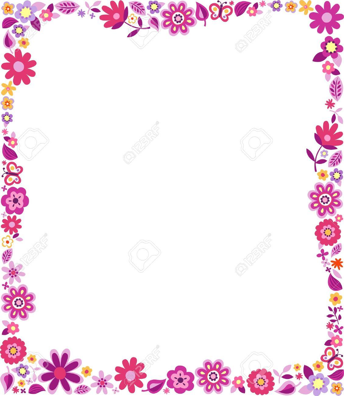 Spring Flower Page Border - comousar