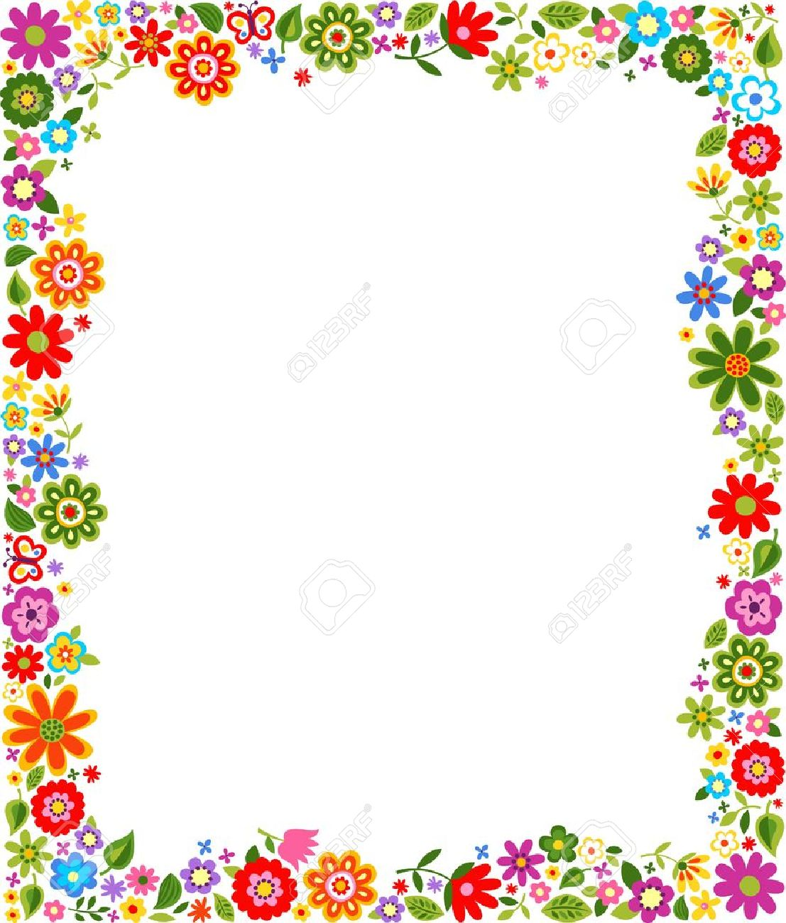 floral pattern border frame Stock Vector - 17969114