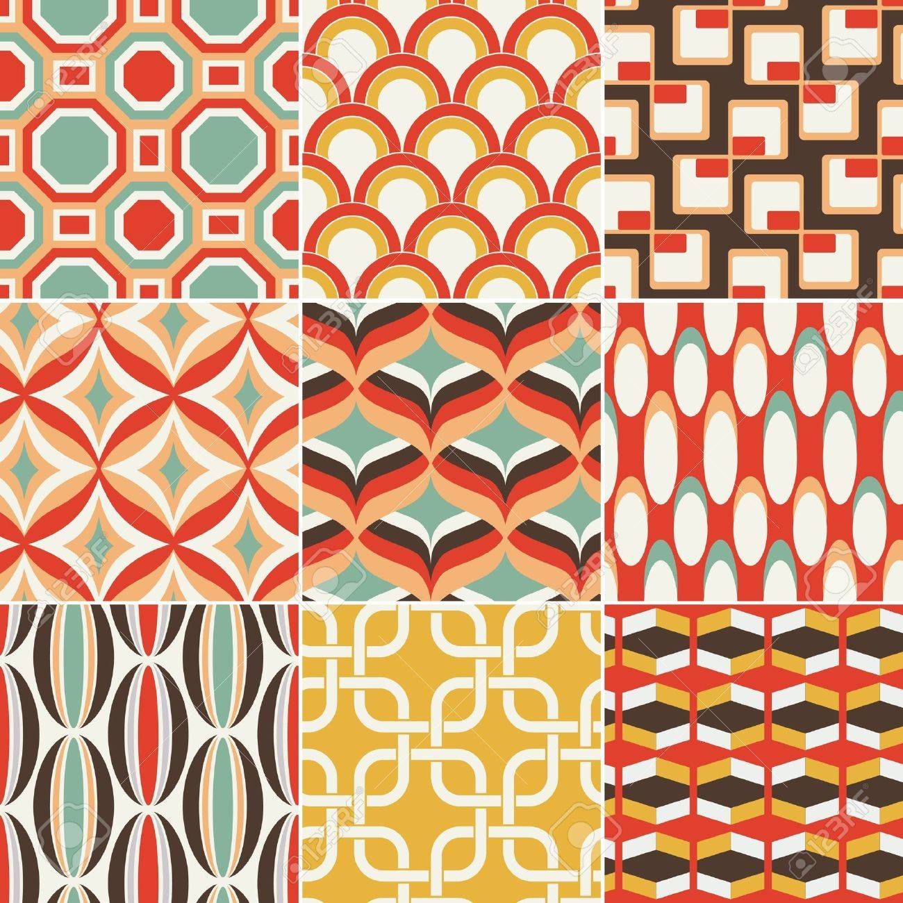 seamless retro colourful geometric pattern Stock Vector - 18570221