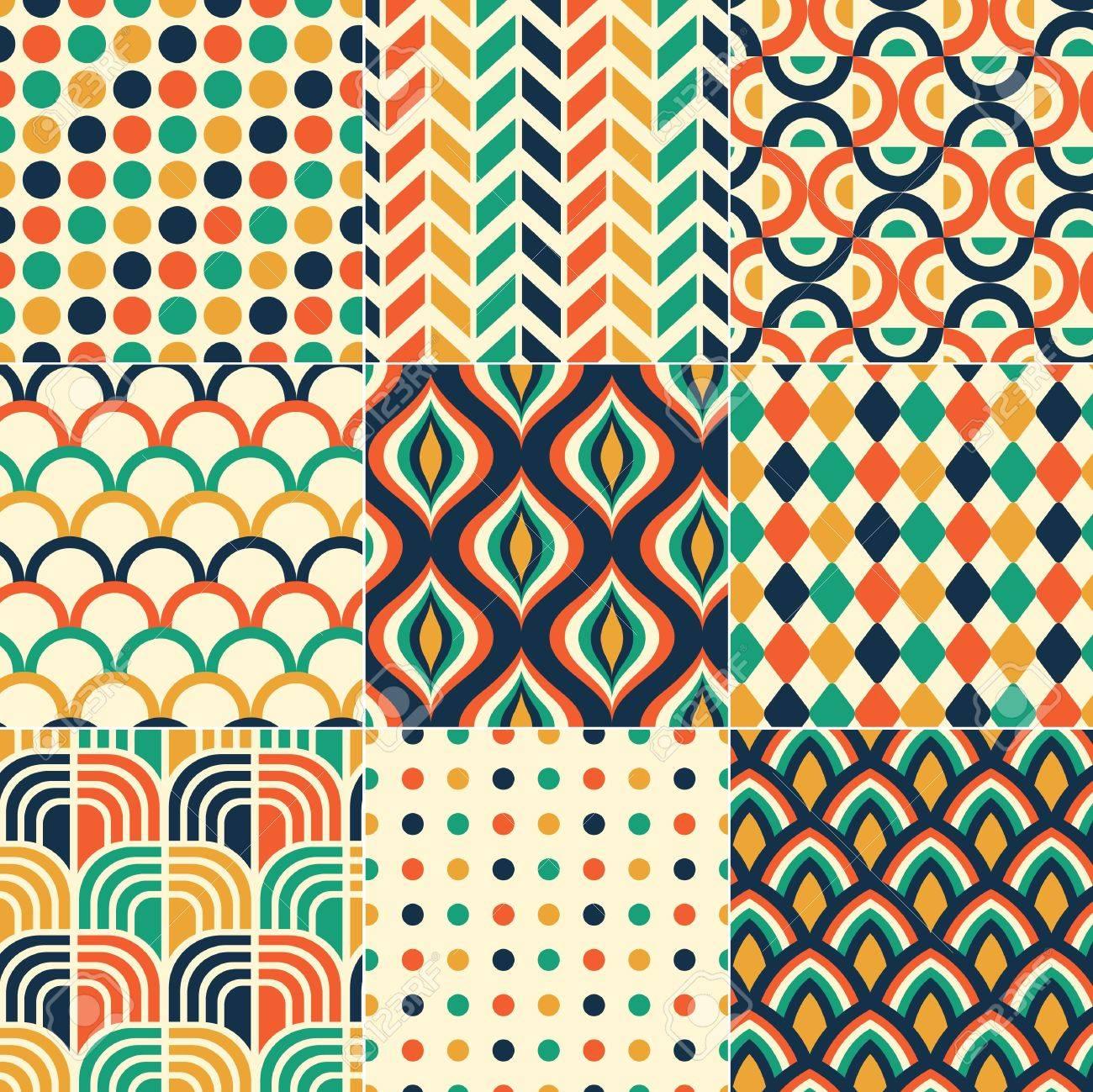 seamless retro pattern print Stock Vector - 20273292