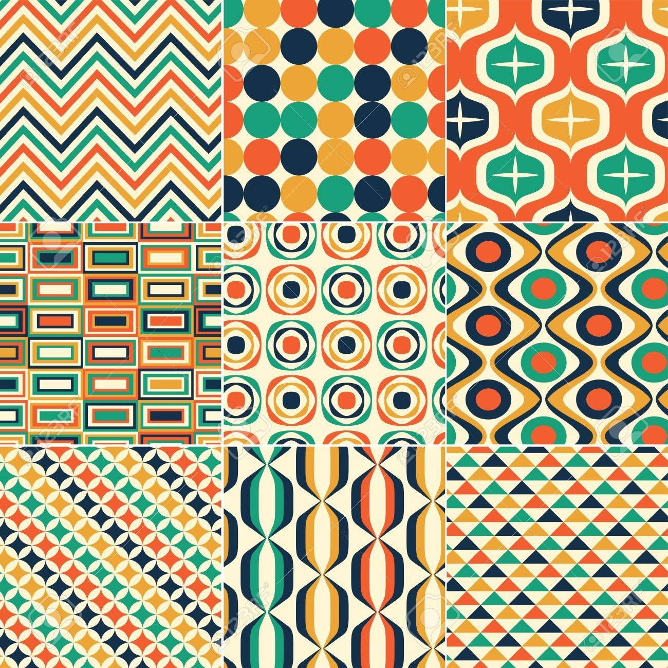 seamless retro pattern print Stock Vector - 20274764