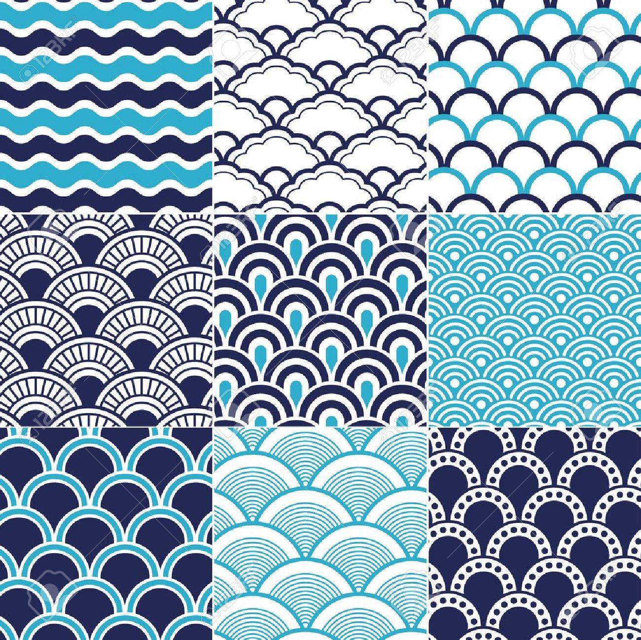 seamless ocean wave pattern Stock Vector - 20586466