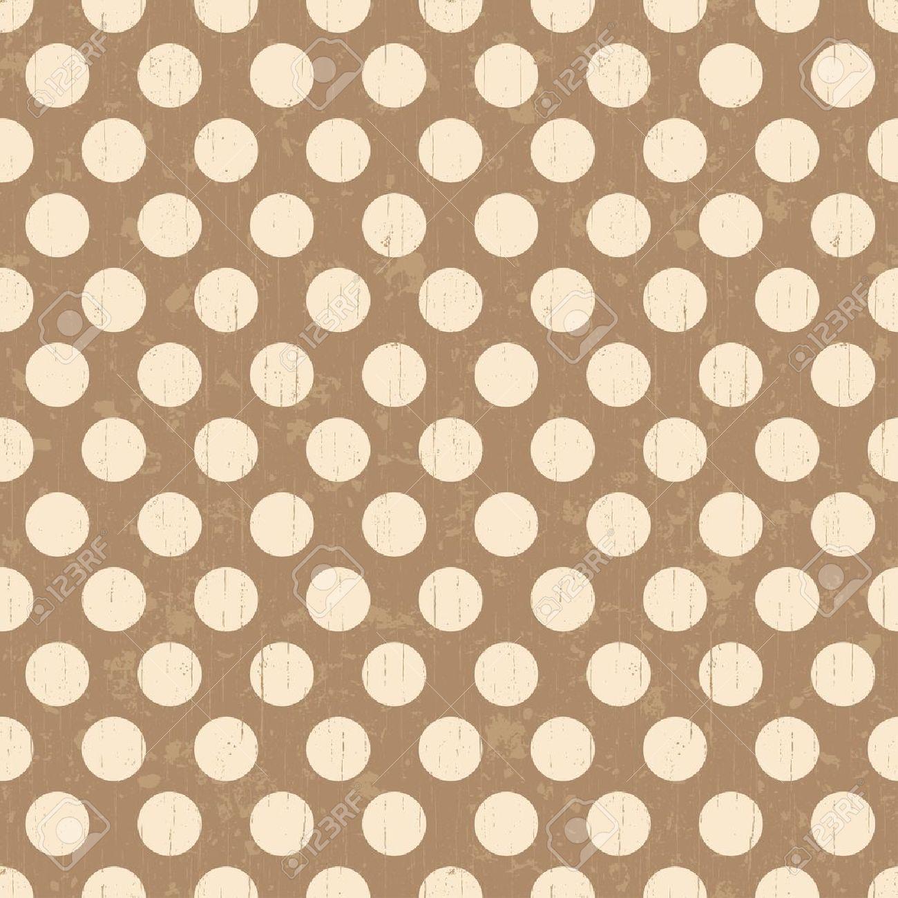 Seamless grunge circles polka dots background texture Stock Vector - 20778442
