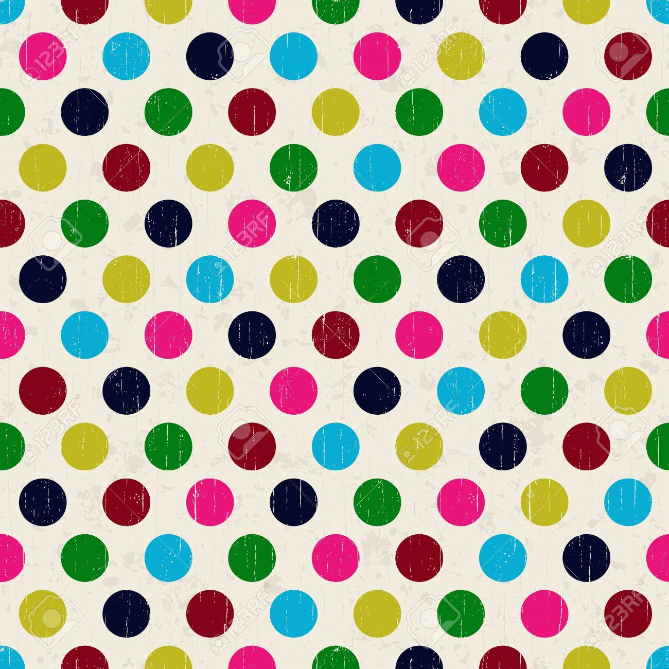 seamless grunge circles polka dots background texture Stock Vector - 22012754