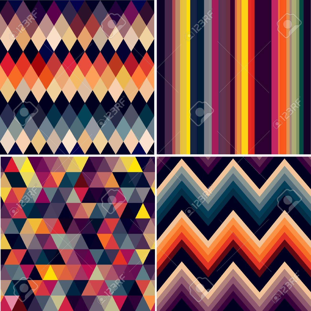 colorful seamless argyle and geometric pattern Stock Vector - 22238145