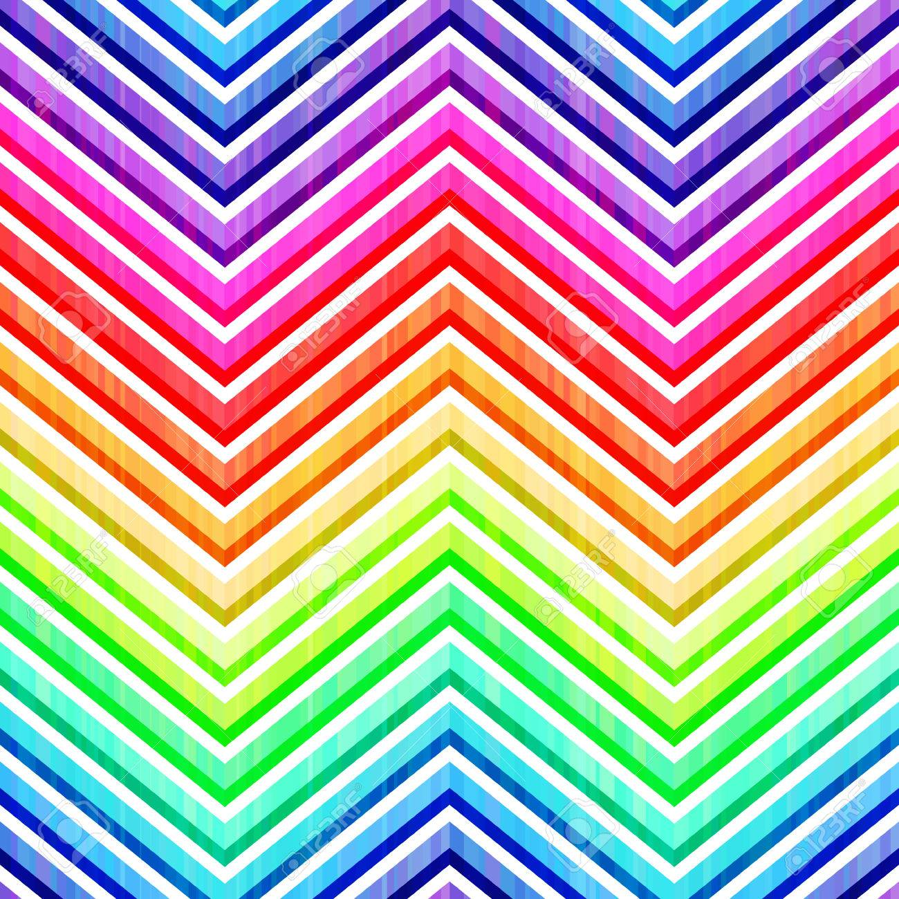 seamless colorful rainbow chevron pattern Stock Vector - 24530310