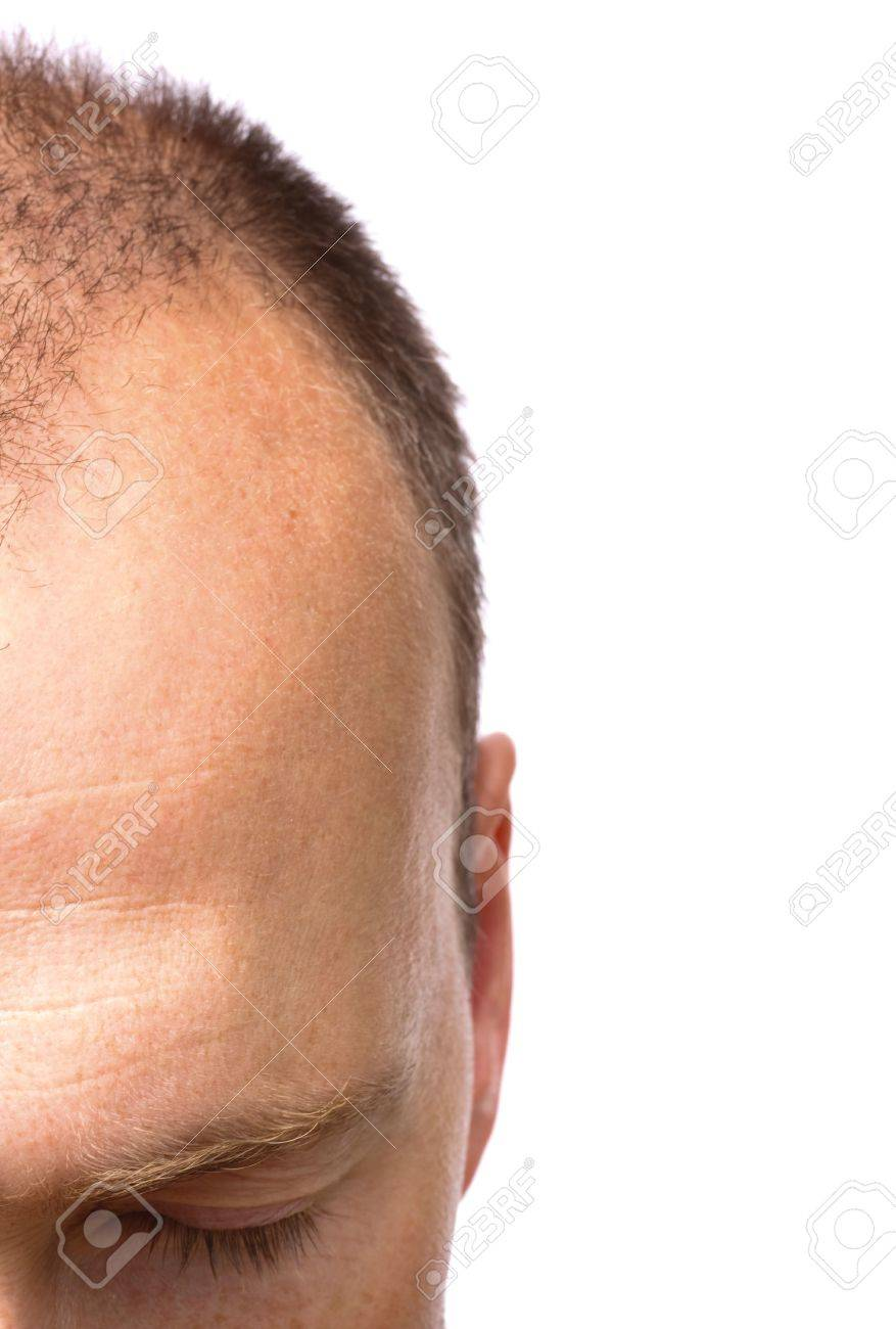 Closeup of a man meditating, contemplating or relaxing, with copyspace to the right Stock Photo - 5996536